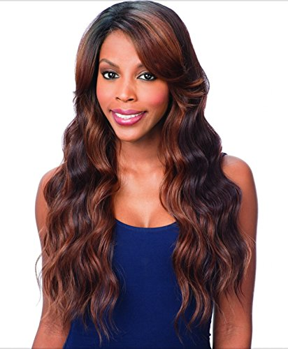 FreeTress Equal Lace Deep Diagonal Part Lace Front Wig - PEACH BLOSSOM (1B - OFF BLACK) by Freetress