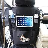 Auto Rückenlehnenschutz– Intipal Rücksitztasche Rücksitz Organizer Rückenlehnentasche mit iPad-Fach Wasserdicht (Zebra)