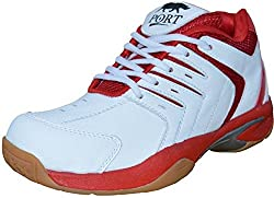 Port Womens Synthetic Red Snozy Badminton Sports Shoe (5 IND/UK)