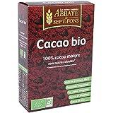Abbaye de sept-fons - Cacao bio pur sans sucre ajouté - 200 g boîtes -
