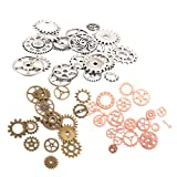 #6: Baoblae Lot 57pcs Steampunk Charms Gear Clock Watch Parts Pendant Jewelry Findings