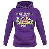 Forget Princess -Farmer - Enfant Pull - Violet - XL (9-11 ans)