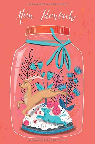 Mein Ideenbuch: Mason Jar Notizbuch Coral, ca. 15 x 23 cm, 120 Seiten, gepunktet, Index, (Hochzeit Mason Jars)