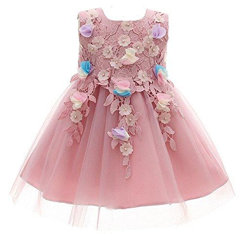 AHAHA Lila Baby Mädchen Prinzessin Kleider Blumenmädchen Kleid Geburtstagsparty Kleid Brautkleider für Baby (0-2 Jahre) (Baby-mädchen Kleider Für Lila)
