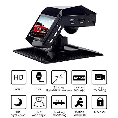 MIMI KING Dash Cam, Auto-Kamera-Dual-Objektiv/Single-Objektiv 170 ° Großer Weitwinkel, Full-HD 1296P, HD-Nachtsicht, WDR, G-Sensor, Loop-Aufnahme, Enthält 32G-Speicherkarte, Parfüm-Recorder,Duallens