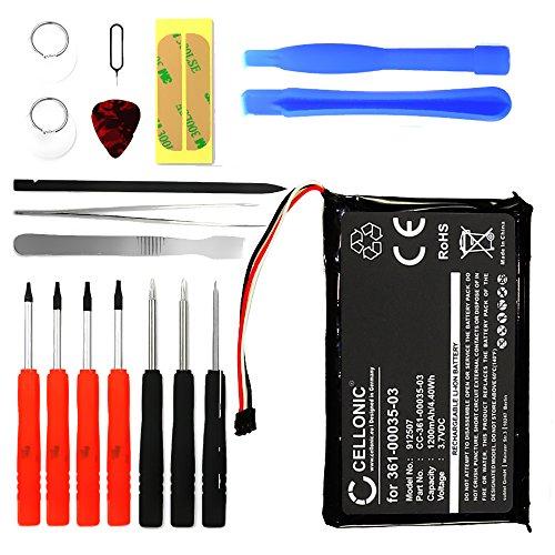 Cellonic® Qualitäts Akku kompatibel mit Garmin Nüvi 2597 2595, Nüvi 2545 2547 2555, Nüvi 2495 2447 2455 2405, Nüvi 2789 inkl. Werkzeug-Set (1200mAh) 361-00035-03 Ersatzakku Batterie (Gps Nuvi Garmin 2595lmt)