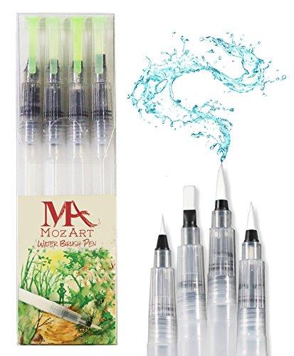 stylos-pinceaux-a-eau-set-de-4-pointes-pinceaux-parfaits-pour-utilisation-avec-des-peintures-aquarel