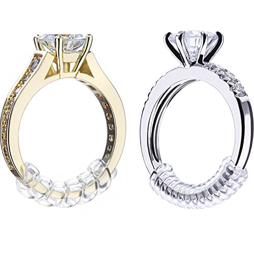 Pangda 8 Stück Ring Sizer Adjuster Ring Guard mit Schmuck Poliertuch für Lose Ringe, 2 Größe, 2 mm/ 3 mm -
