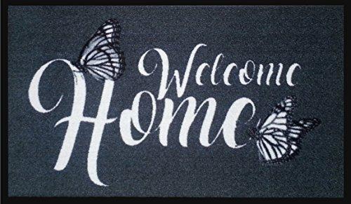 Fußmatte XXL Fußabtreter Home Willkommen Welcome 45 x 75 cm New York Trendstern Eule Flowers...