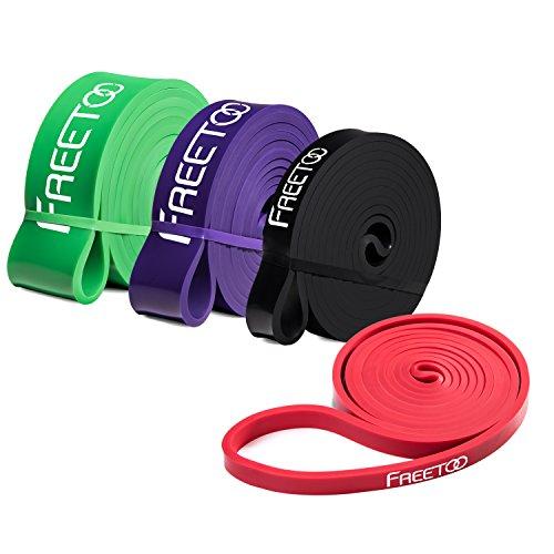 Resistance-Band-FREETOO-Fitnessbnder-professionelle-Latex-Widerstand-Bnder-Pull-Up-Bnder-Klimmzughilfe-fr-BodybuldingYoga-KrafttrainingCrossFit-in-4-Strken