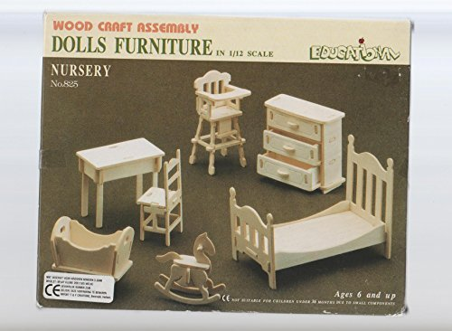 Dolls House Wooden Nursery Furniture Kit 1:12 scale Age 6+