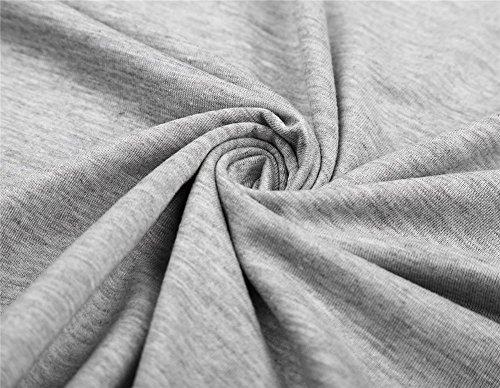 Très Chic Mailanda Shirt Donna Casuale in Cotone Camicia Spalla scavata con Manica Corta Camicetta Cape Colletto in Pizzo Gray