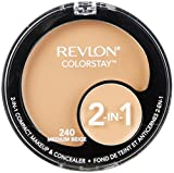 Revlon Colorstay 2-in-1 Compact Makeup & Concealer, Medium Beige, 0.38 Ounce by Revlon