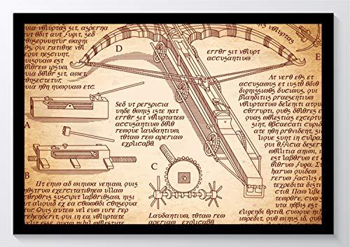 Da Vinci Bauplan Armbrust Kunstdruck Poster ungerahmt Bild DIN A4 A3 K0939 Größe A3