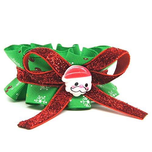 Yunt Weihnachten Hundehalsbänder Kostüm Halsband mit Schleife Halskette in Rot & Grün Geschenke für Haustier Hunde Katzen S/M/L/XL