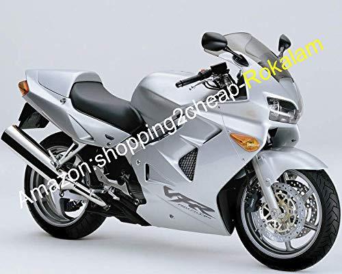 moto Coque Carénages pour Vfr800 1998 1999 2000 2001 VFR 800 98 99 00 01 VFR 800rr tous Argent Bodyworks ABS Moto Carénage kit