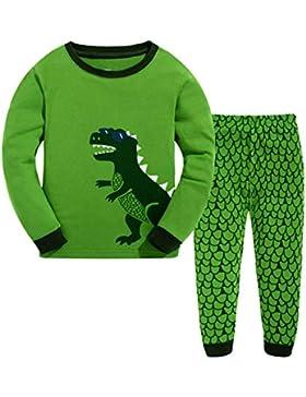 GSVIBK Pijama Dos Piezas - para Niño Edad 1-7 Años
