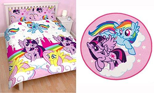 My Little Pony Equestria Bettwäsche Set Bettwäsche Doppelbett und Teppich