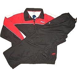 Fila–Chándal Chaqueta y Pantalón Negro de color rojo de color blanco 6002510–012Boys Size XL/164cm/66–68Inch/13años