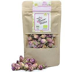direct&friendly Bio Rosenblüten getrocknet, rosa, Essblüten im Nachfüllpack (100 g)