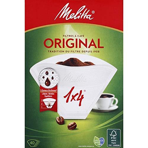 Melitta - Filter-Kaffee Classic (1: 4) - 40 Filter - Lot Von 3 - Pro Einheit - Schnelle Lieferung