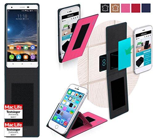 reboon Hülle für Oukitel K6000 Pro Tasche Cover Case Bumper   Pink   Testsieger