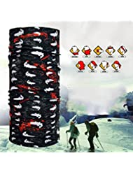 Rare Casque multifonctionnel Seamless Magic Scarf Headbands Windproof Soft And Comfortable Quick Dry 10 Pcs