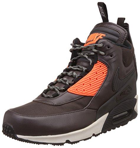 Nike Air Max 90 Sneakerboot Winter 684714-200 Herren High-Top Sneaker Braun (Velvet Brown/Black-Hypr Crmsn 200) 42