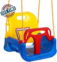 3-in-1 Toddler Swing Seat Infants to Teens, Detachable Outdoor Toddlers Children Hanging Seat (Blue)