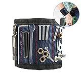 Bracciale Magnetico, Wristband Magnetico 10 Magneti Forti Fascia da Polso per lo svolgimento di viti, chiodi, punte da trapano, Lavorare wrister riparazione Kit accessor .