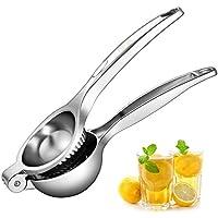 Deik Exprimidor manual  de limones manual, hecho de acero inoxidable, con cazo grande y apto para lavavajillas
