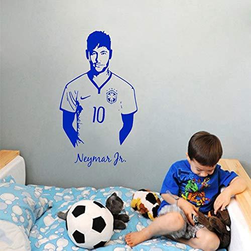 Neymar Vinyl Wandaufkleber Paris Club Football Player Abnehmbare Aufkleber Wohnzimmer Schlafzimmer Dekoration Kunst Poster 57x99 cm - Le Paris Club