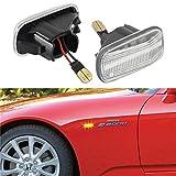 [1 Paar] OZ-LAMPE LED-Seitenmarkierungsblinker, Fahrtrichtungsanzeiger für Hond-a Civic (Transparente Linse)