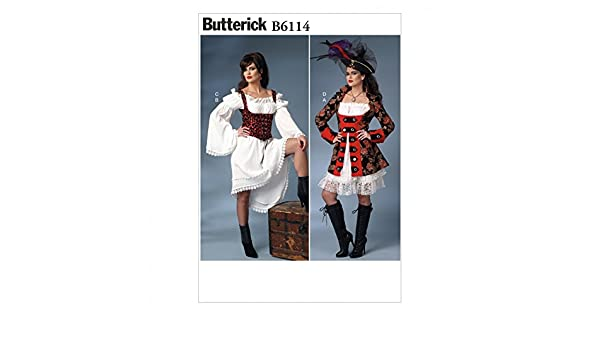 Butterick Schnittmuster 6114 – Piraten Kostüm: Amazon.de: Küche ...