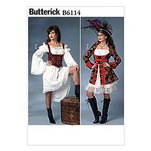 Butterick Patron de couture pour femmes - 6114 Déguisement de pirate