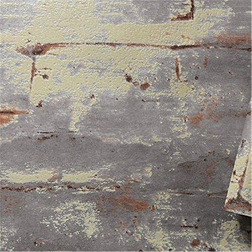 H&q shell retrò vintage cemento muro pianura ruggine viola non tessuto carta da parati bar ristorante cafe loft stile industriale carta da parati (0,53 * 10m)