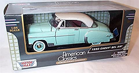 motor max blue / white chevy bel air 1950 car