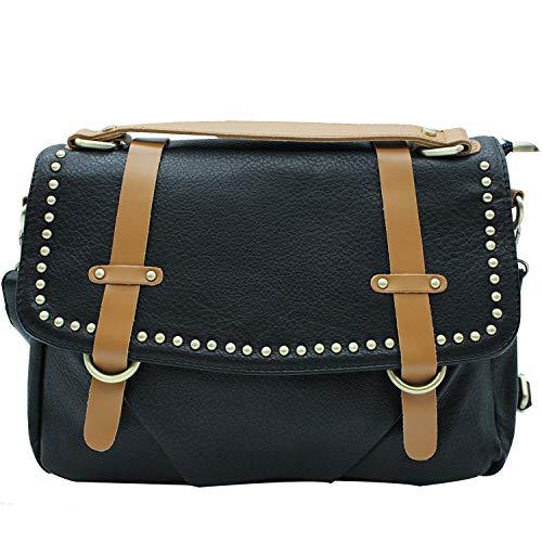 MISEMIYA - Borsa a Mano Donna Pochette e Clutch Borse a mano e a spalla mano borsa SR-J577(35 * 23 * 10CM) - Nero