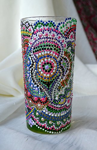 Hecho a mano de cristal vaso de tubo acrílico multicolor respetuoso c