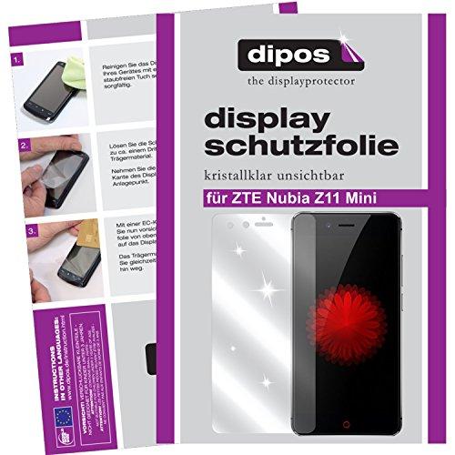 dipos I 6X Schutzfolie klar passend für ZTE Nubia Z11 Mini Folie Bildschirmschutzfolie