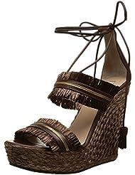 Pura Lopez Ah331r - Sandalias de cuña Mujer