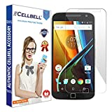 Cellbell TM Motorola Moto G4 Plus (transparent) 9H Premium Tempered glass screen protector with FREE Installation Kit