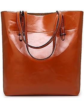 Ruiatoo Damen Tasche Handtasche aus PU Leder Schultertasche Tote Bag Shopper Damentasche