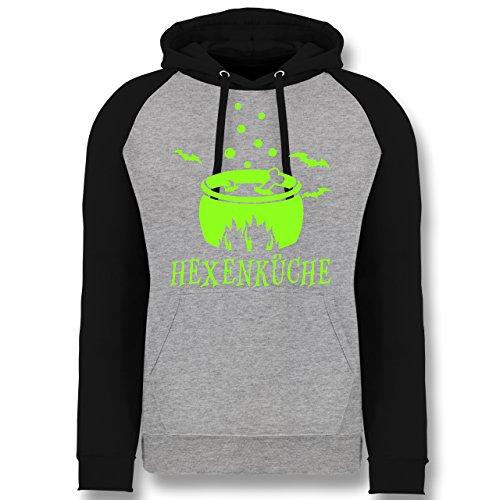 Shirtracer Küche - Hexenküche - XL - Grau meliert/Schwarz - JH009 - Baseball Hoodie