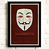 XWArtpic Klassische Hollywood Film Charakter Superheld Cartoon Maske Nette Avatar Logo Name wohnkultur Poster wandkunst leinwand malerei 60 * 80 cm