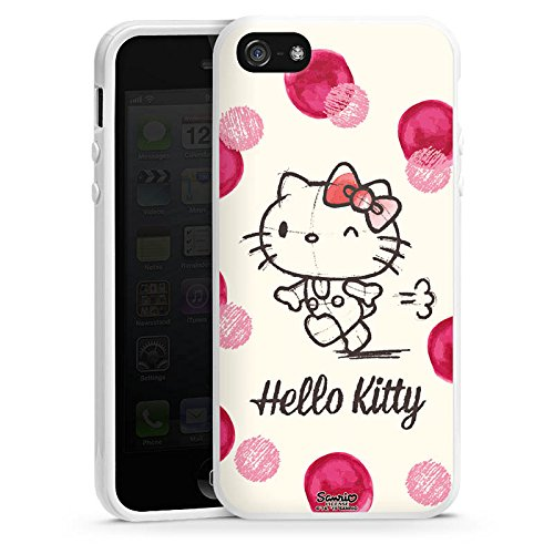 DeinDesign Silikon Hülle kompatibel mit Apple iPhone 5s Case Schutzhülle Hello Kitty Fanartikel Merchandise Fan Article Merchandise