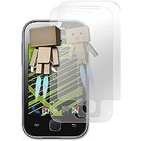 atFoliX Protección de Pantalla Samsung Galaxy Y (GT-S5360) Lámina protectora Espejo - Set de 1 - FX-Mirror con efecto espejo