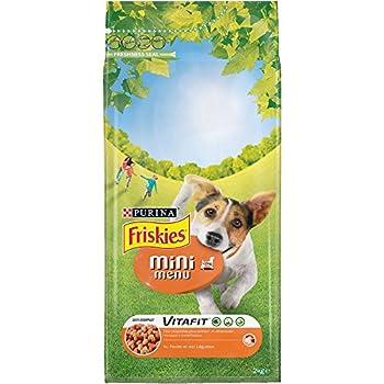 Friskies Vitafit Mini Menu : au Poulet et Légumes Ajoutés - 2 KG - Croquettes pour Chien Adulte de Petite Taille - Lot de 6