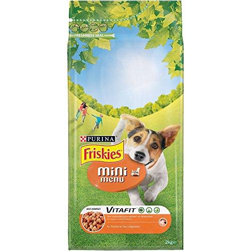 Friskies Chien Mini Menu Croquettes pour Chien Adulte Poulet/Légumes Ajoutés 2 kg