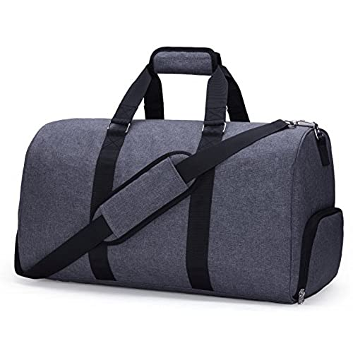 MIER Gym Duffel Bag For Men And Women With Shoe Compartment Carry On Size 20inches Gray